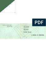 Gilson Slide Rule Circular Manual of Operation
