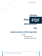 System Requirements Specification Document RSA
