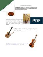 Instrumento de Cuerdas en Ingles