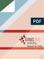SiNUS 2013 - Manual de Estilo