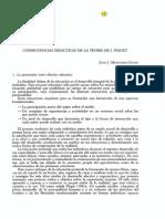 Consecuencias didácticas de la teoria de Jean Piaget