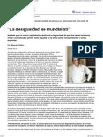 """Página_12 __ El mundo __ """"La desigualdad se mundializó"""""""