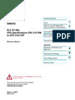 Technical Data of CPU 315-2DP