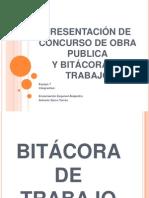 PRESENTACIÓN DE CONCURSO DE OBRA PUBLICA