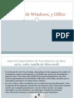 Historia de Windows, y Office