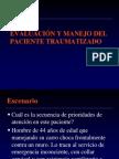 EVALUACIÓN Y MANEJO DEL  PACIENTE TRAUMATIZADO