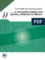 Gestionpublica y Gobernanza en Mx Apuntes Ocde