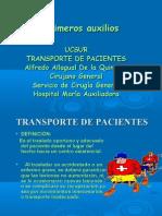Transporte de Pacientes en Primeros Auxilios