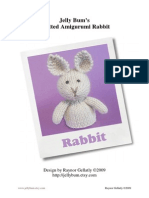 JellyBumKnittedAmigurumi Rabbit