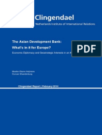 The ADB-What is in It for Europe - (Feb 2014) Clingendael Report
