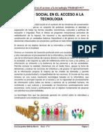 Equidad Social en El Acceso a La Tecnologia