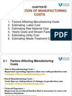Chap 6.0 Manufacturing Cost Estimation