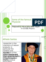 Some of the Famous Filipino Physicist