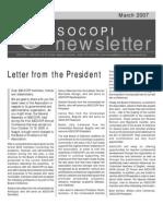 Asocopi Newsletter March 2007