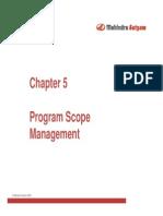 - Program Scope Management
