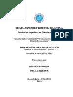 INFORME DISEÑO Y CEMENTACION DE REVESTIDORES