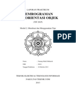 Laporan Praktikum PBO Bab 2