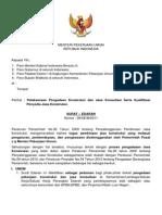 SE Menteri PU No. 09-SEM-2011_Pelaksanaan Pengadaan Konstruksi Dan Jasa Konsultansi
