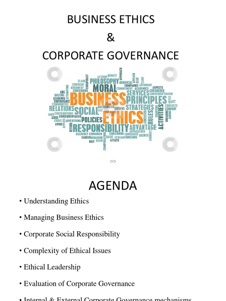 Business Ethics & Corporate Governance Final | Corporate