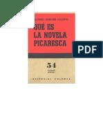 Qué es la novela picaresca- Alonso Zamora Vicente