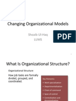 Changing Organizational Models