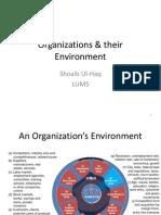 Organizations & Their Environment