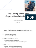 The Coming of the New Organization