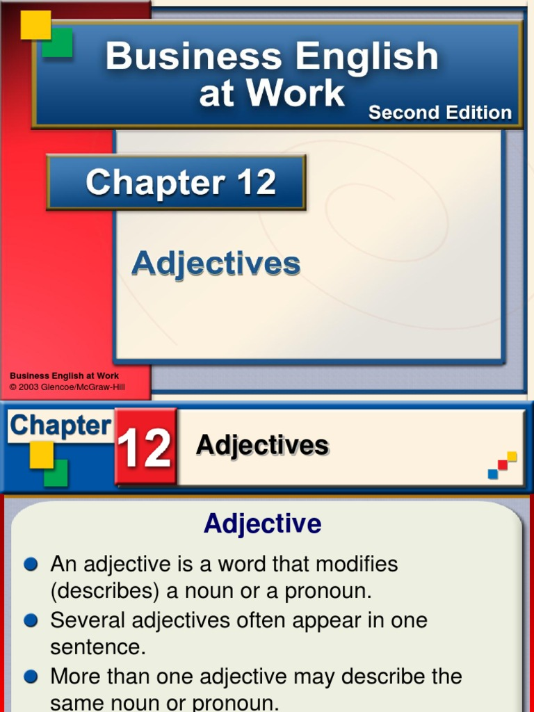 mcgraw hill grade 3 unit 4 adjectives