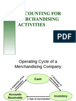 accounting for merchandising activities