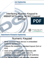 Interfacing Numeric Keypad With MB90F387S