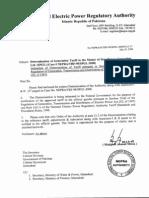 Determination of General Tariff by Nepra-SPGL