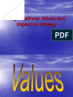 Org Values and Impact on Strategy Original