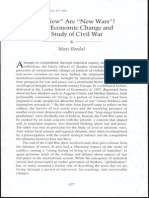 Berdal. 2003. How New Are New Wars. Global Economic Change and the Study of Civil War. Golbal Governance 9