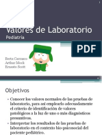 Valores de Laboratorio