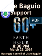 Little Baguio and Earth Hour 2014