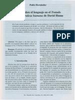 Notas Sobre El Lenguaje en El Tratado de La Naturaleza Humana de David Hume