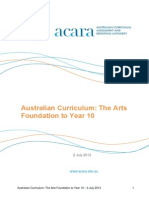 australian curriculum the arts 2 july 2013-2