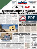 Periódico Norte de Ciudad Juárez edición impresa del 25 marzo del 2014