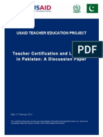 Discussion Paper on Teacher Licensing-Bm