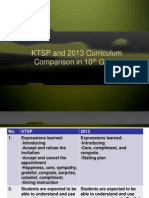 KTSP and 2013 Curriculum Comparison in 10th Grade