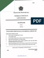 2011-Percubaan Maths Upsr+Skema [Melaka]