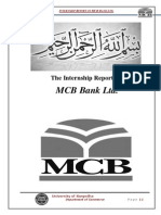 Internship Report on MCB Bank Ltd 2011