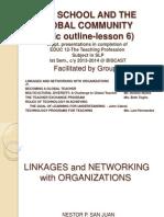 Teachprof Group4 Linkagesandnetworkingwithorganizationsmr 131014204034 Phpapp01