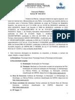 Edital 052-2013 - PSICOLOGIA GERAL, PSICOLOGIA SOCIAL E PSICOLOGIA DA EDUCAÇÃO