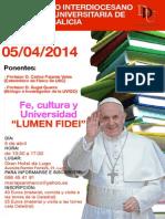 Cartel III Encuentro I. P.U. Galicia en Gran Hotel de Lugo 5 Abril 2014
