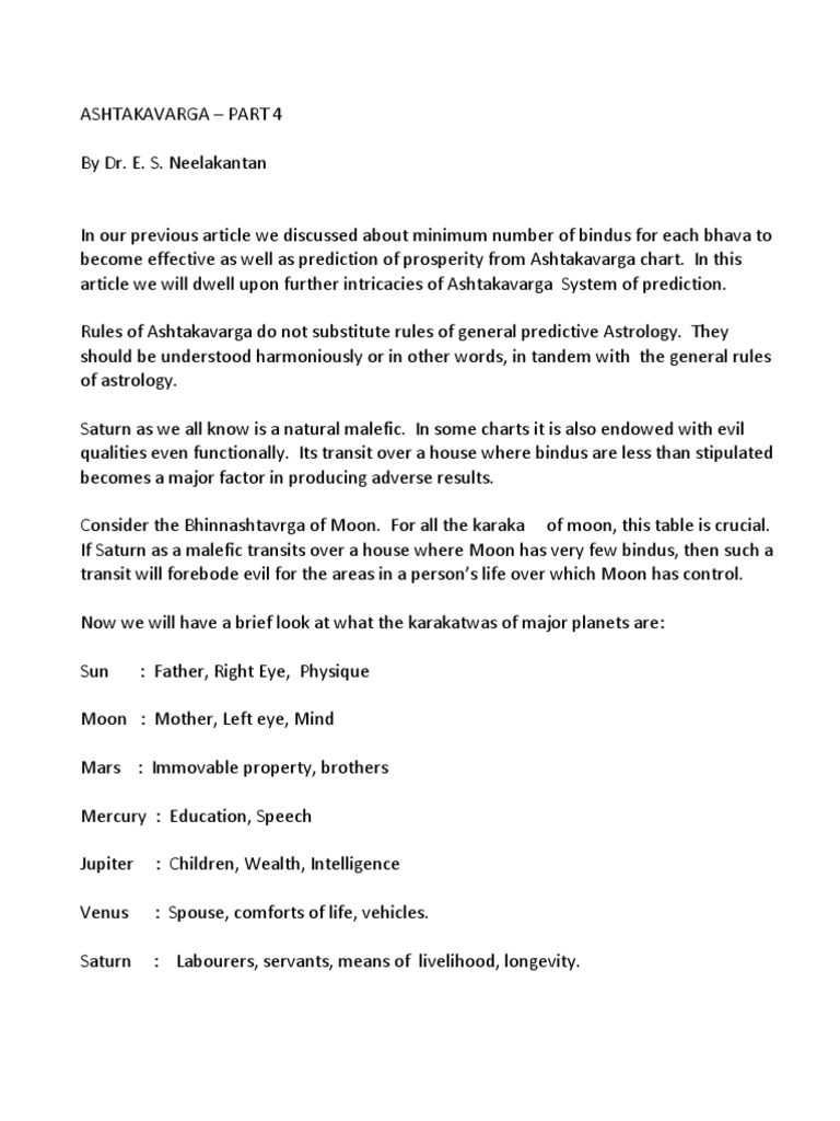 Ashtakavarga Par 4 | Esoteric Cosmology | New Age Practices