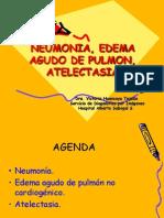 Clase 1.-Neumonia, Edema Agudo de Pulmon.-dra. Huancaya