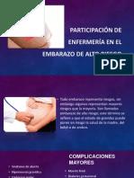 Participación de enfermería en el embarazo de alto riesgo