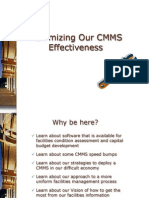 Session 7 - Maximizing CMMS Effectiveness