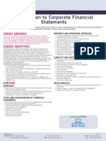 261 Introduction to Corporate Financial Statements